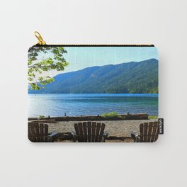 Adirondack Chairs at Lake Cresent Carry-All Pouch