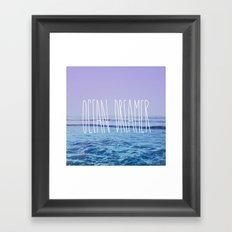 Ocean Dreamer Framed Art Print