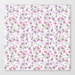 beach rose white Canvas Print
