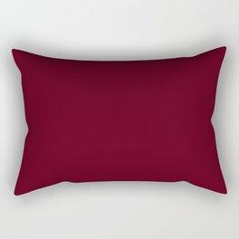 Dark Burgundy - Pure And Simple Rectangular Pillow