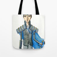 knight Tote Bags featuring Knight by Eugene Frost