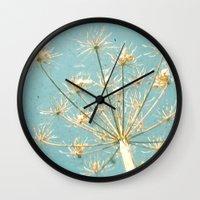 umbrella Wall Clocks featuring Umbrella by Cassia Beck