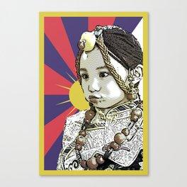 A little Tibetan girl Canvas Print