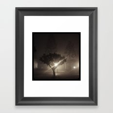 Evening fog. Framed Art Print