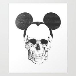 OLDSKULL FRIEND Art Print