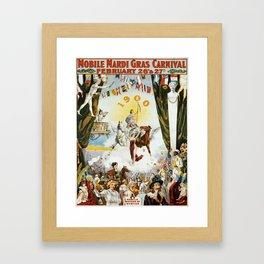 Vintage poster - Mobile Mardi Gras Framed Art Print