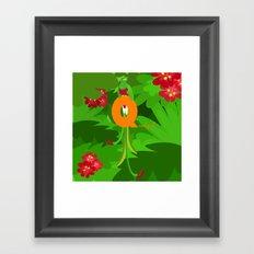 q for quetzal Framed Art Print