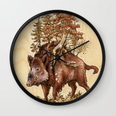 Boar of the Woods Wall Clock