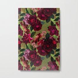 Vintage & Shabby Chic - Botanical Roses Summer Garden   Metal Print