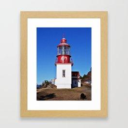 Lighthouse Cap-Chat Quebec Framed Art Print
