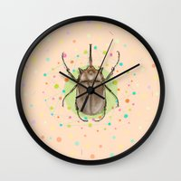 insect Wall Clocks featuring Insect I by dogooder