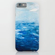 Paint 10 abstract water ocean seascape modern painting dorm room decor affordable stretched canvas Slim Case iPhone 6s