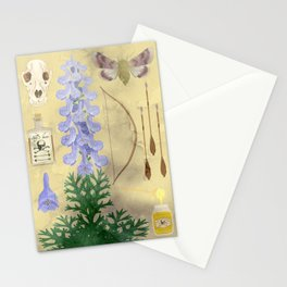 Aconitum / wolf's bane Stationery Cards