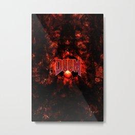 DOOM5-GAMEFONT Metal Print