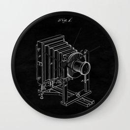 Vintage Camera Blueprint Sheet One Wall Clock