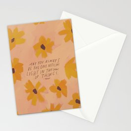 Noticing Light In The Chaos Of Things Stationery Cards