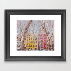 Colourful Street Framed Art Print