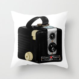 Brownie Camera Throw Pillow