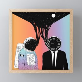 A Portrait of Space and Time ( A Study of Existence) Framed Mini Art Print