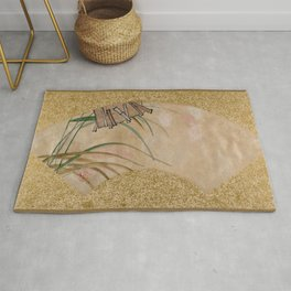 Shibata Zeshin - Flowers And Leaves - Digital Remastered Edition Rug