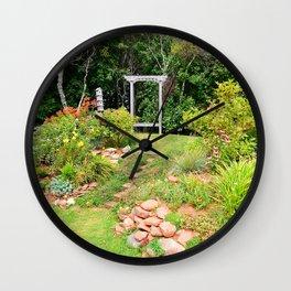 Peaceful Garden Retreat Wall Clock