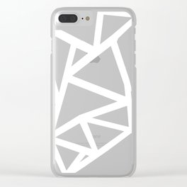 Ab Outline Thicker Black Clear iPhone Case