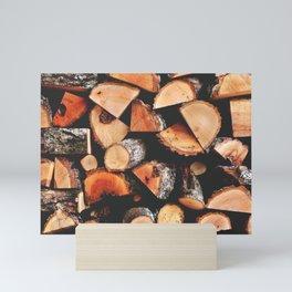 Timber butts Mini Art Print