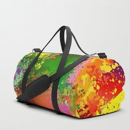 Embroidery dab color spray Duffle Bag