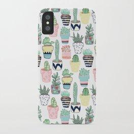 Cute Cacti in Pots iPhone Case