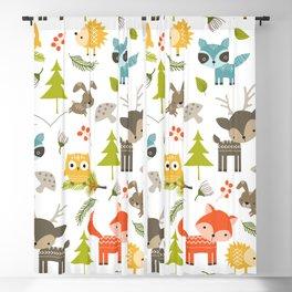 Woodland Animals Blackout Curtain