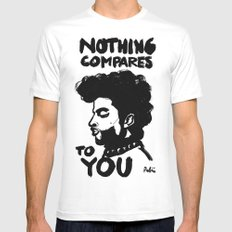 Nothing Compares MEDIUM White Mens Fitted Tee