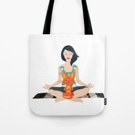 Yoga partners Tote Bag