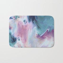 Abstract Art- Watercolor Art- Fractal Art- Blue Art- Ocean- Water- Marann Bath Mat