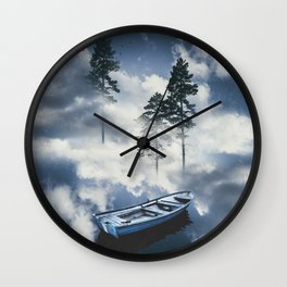 Forest sailing Wall Clock