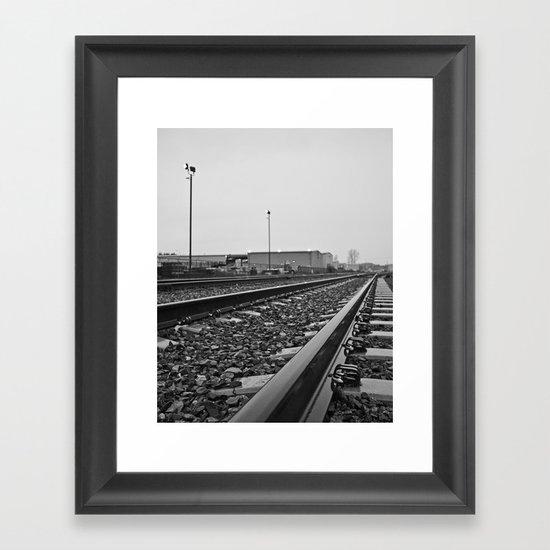 South Tacoma train tracks Framed Art Print