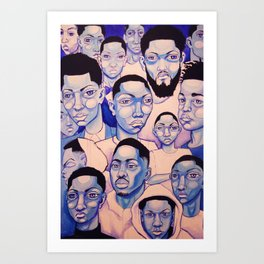 Black Boy Blues Art Print