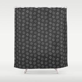 Pangnupark Hippo Bear Grey Shower Curtain