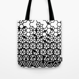 Dissecting Geometric Patterns (long-white) Tote Bag