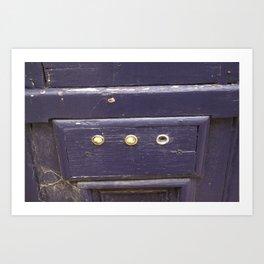 Old purple door Art Print
