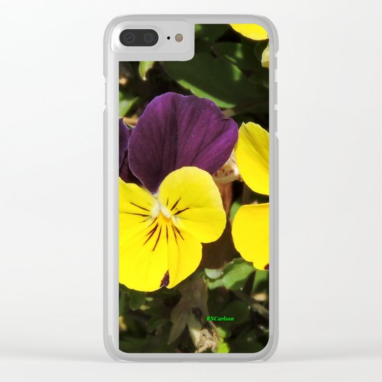 The Pansies at the Corner Clear iPhone Case