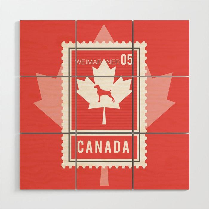 Canada Weim Stamp Wood Wall Art By Bluweimdesigns
