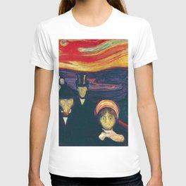 12,000pixel-500dpi - Edvard Munch - Anxiety - Digital Remastered Edition T-shirt