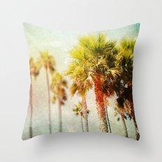 California Palms Throw Pillow