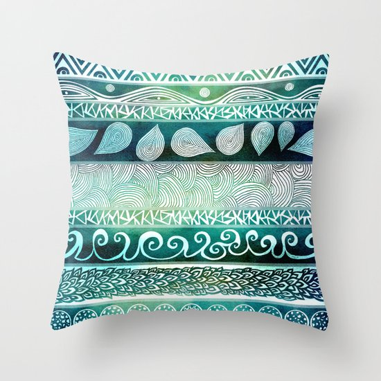 Dreamy Tribal Part VIII Throw Pillow