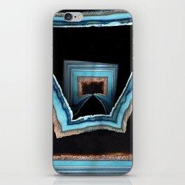 Blue Geode iPhone Skin