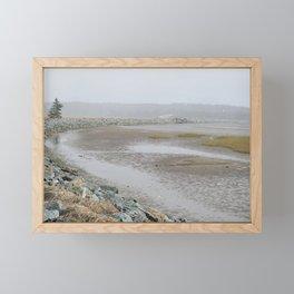 Salt Water Marsh Snow Squall Framed Mini Art Print
