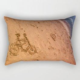 sand bicycle Rectangular Pillow
