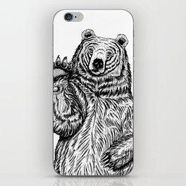 Waving Bear iPhone Skin