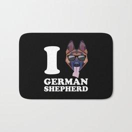 I Love German Shepherd modern v2 Bath Mat