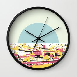 Rooftop view Wall Clock